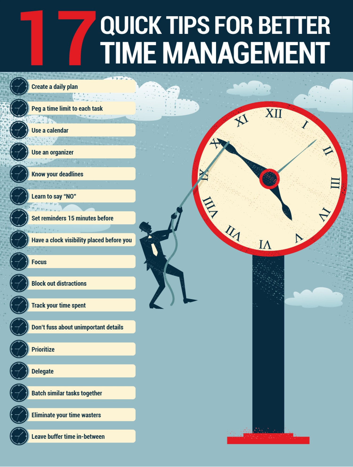 Great 17 Time Management Tips (Infographic) | MASTROIANNI CONSULTING